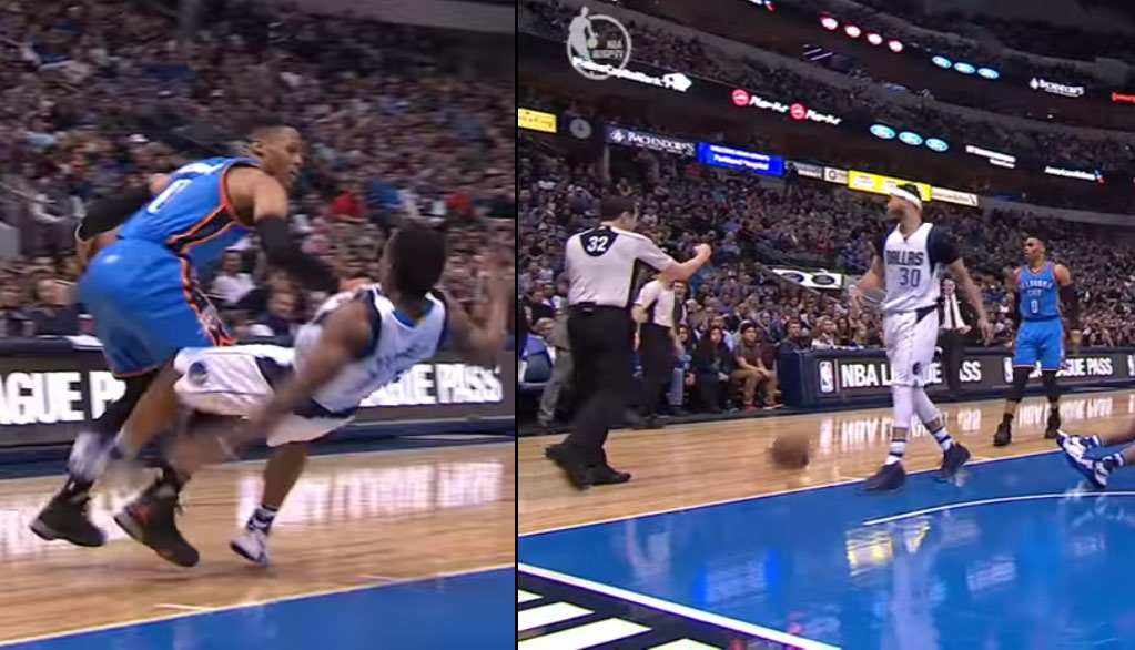 Russell Westbrook Gets A Silly Tech For Bouncing The Ball Towards A Ref