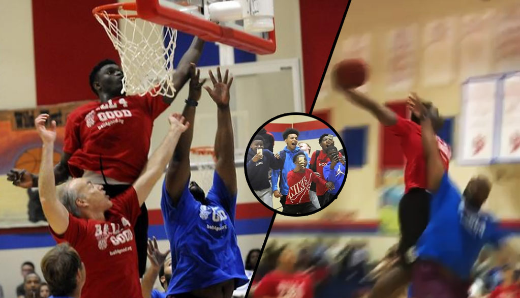 16-Year Old Zion Williamson Dunks On Grown Men At Ball4Good Celeb Game In Spartanburg