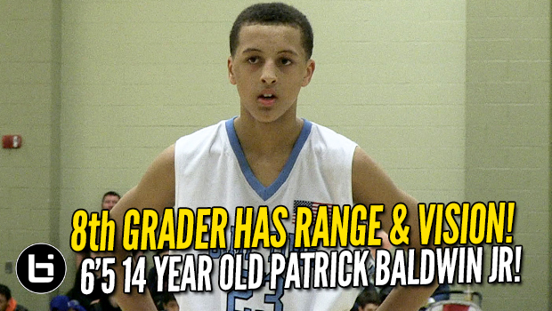 8th Grader Has RANGE and VISION! 6'5 14 year old Patrick Baldwin Jr. Highlights!