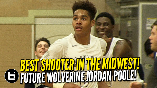 Jordan Poole is the Best Shooter in the Midwest! Future Michigan Wolverine is SHIFTY!