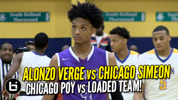 Chicago POY Alonzo Verge Last HS Game vs Simeon! Sectional Final Full Highlights!