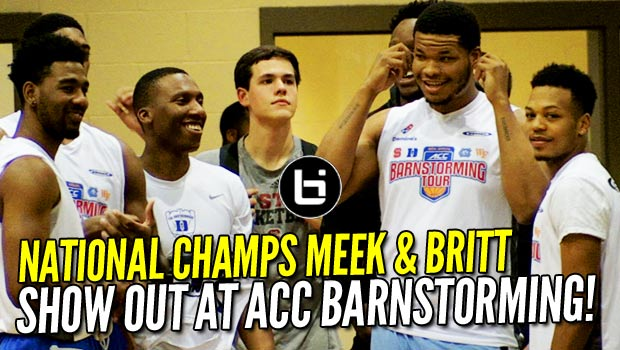 National Champs UNC & Duke ON THE SAME TEAM?! 2017 ACC Barnstorming Night 1 Highlights!