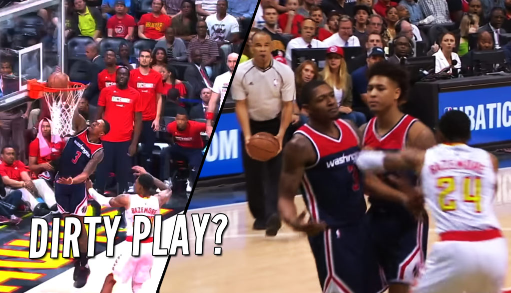 Kent Bazemore's Dangerous Push On Bradley Beal's Layup Leads To 4 Techs