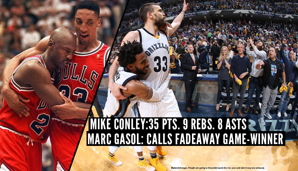 Mike Conley & Marc Gasol Had Some 'Like Mike' Moments In GM4 OT Win Over Spurs
