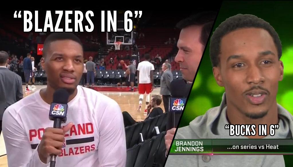 "Damian Lillard Says ""Blazers in 6"" On Facing The Warriors. Remember ""Bucks in 6?"""