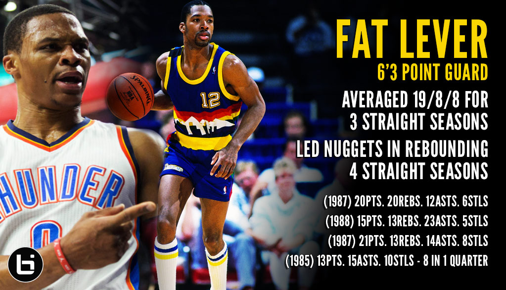 Remember Fat Lever aka Russell Westbrook 1.0?