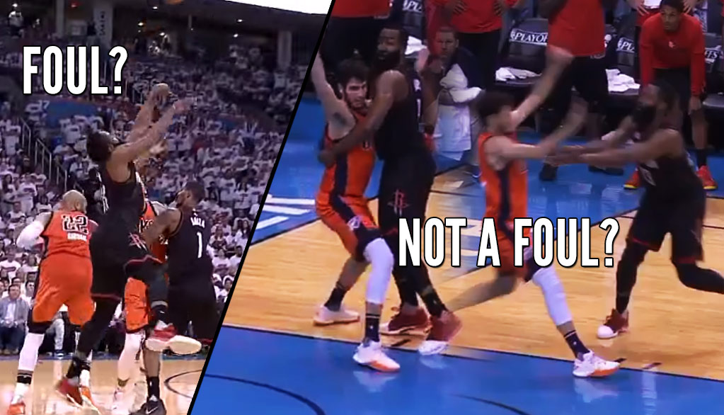 """That's A Foul!"" & ""That's Not A Foul?"" With James Harden In Game 4"