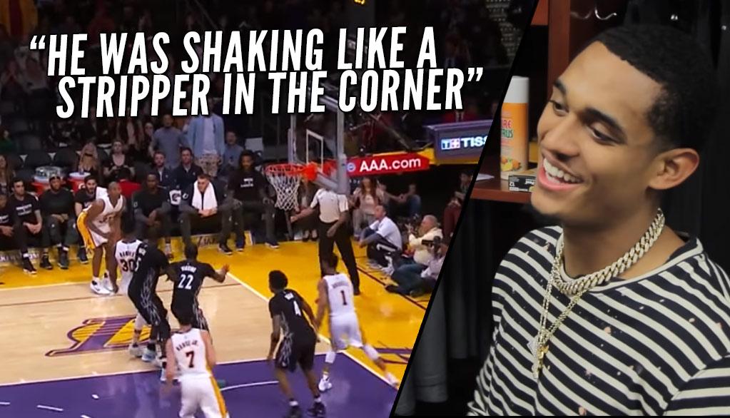 """Jordan Clarkson Says Metta World Peace's Leg Was """"Shaking Like a Stripper"""" On Game-Winner Attempt"""