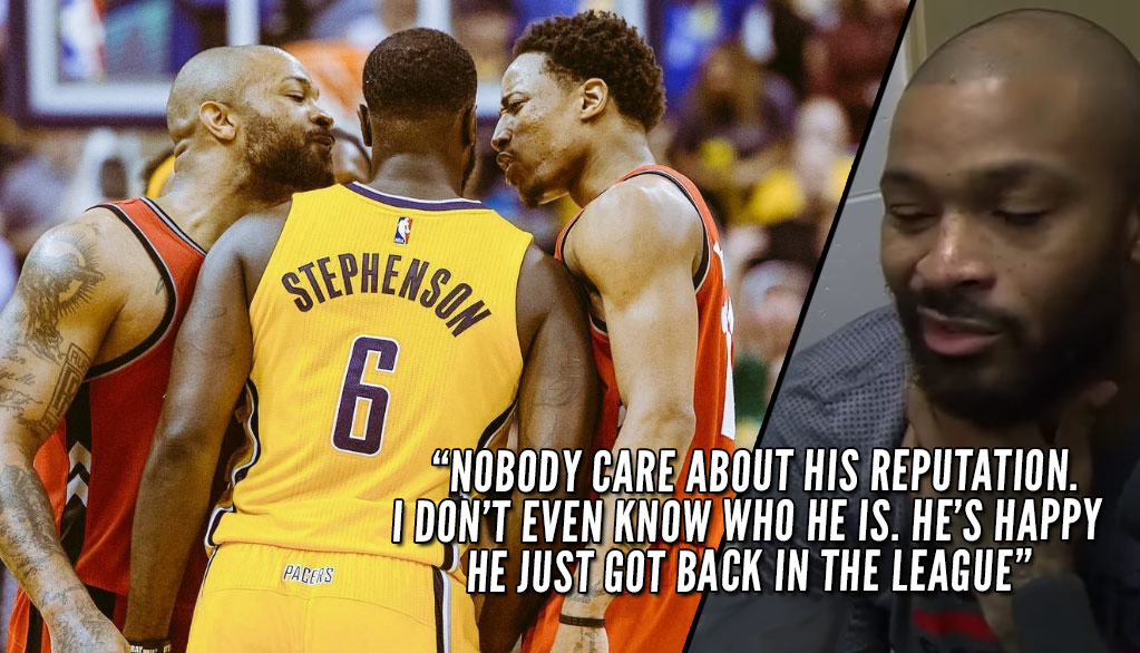 PJ Tucker Rips Lance Stephenson After Scuffle Over Disrespectful Layup