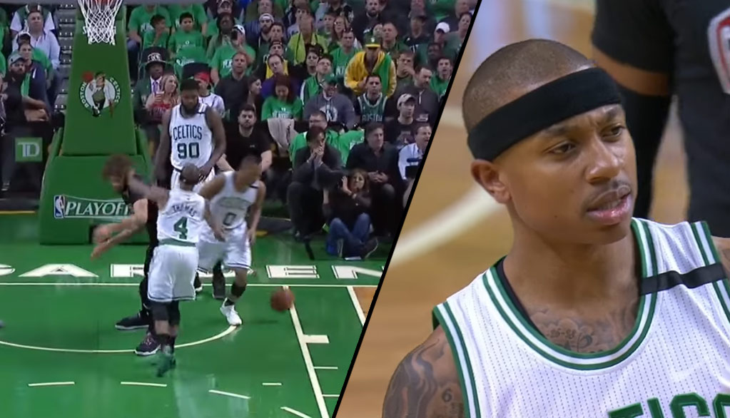 Isaiah Thomas Gets A Tech For Shoving Robin Lopez, NBA Rescinds GM1 Tech