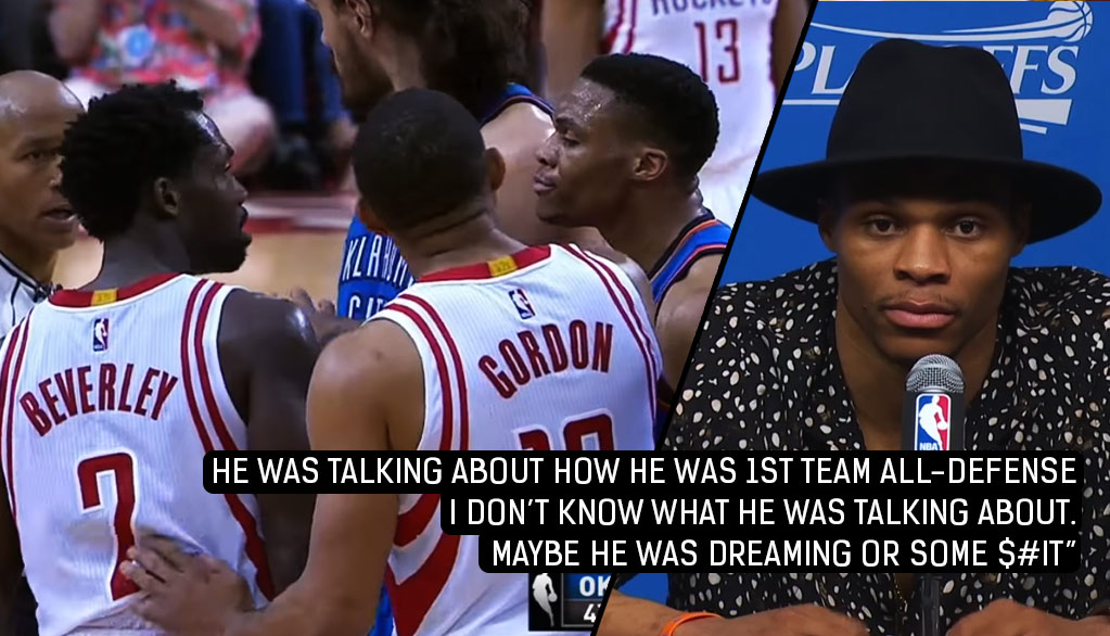 Russell Westbrook & Patrick Beverley's Trash Talking Continued In The Postgame Interviews