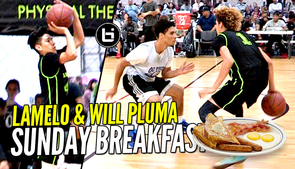 LaMelo & Will Pluma SERVING Sunday Morning Breakfast!! Big Ballers Go Undefeated!!