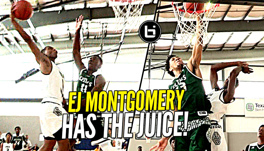 EJ Montgomery Has The JUICE! 6'11 Droppin' DIMES Like a Guard!! Atl Celtics vs MBA Hoops at Adidas!