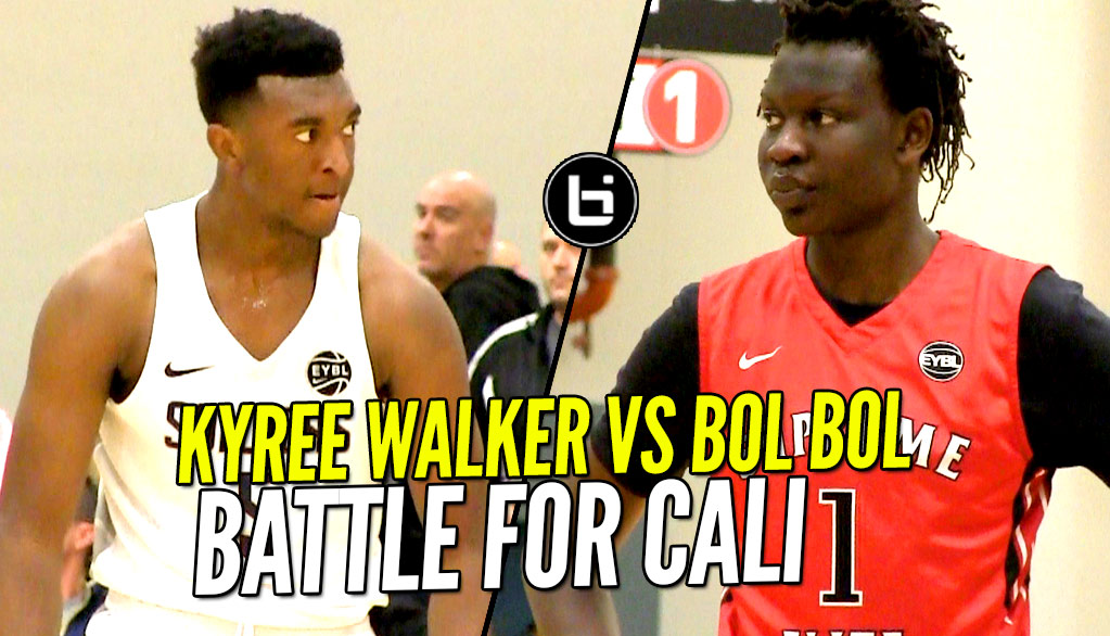 Bol Bol vs Kyree Walker!! Cal Supreme & Oakland Soldiers Battle at Nike EYBL!!!