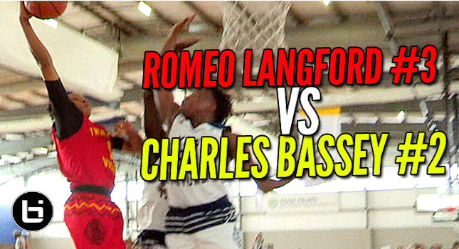 Romeo Langford #3 VS Charles Bassey #2! Top Ranked Players Battle At Adidas