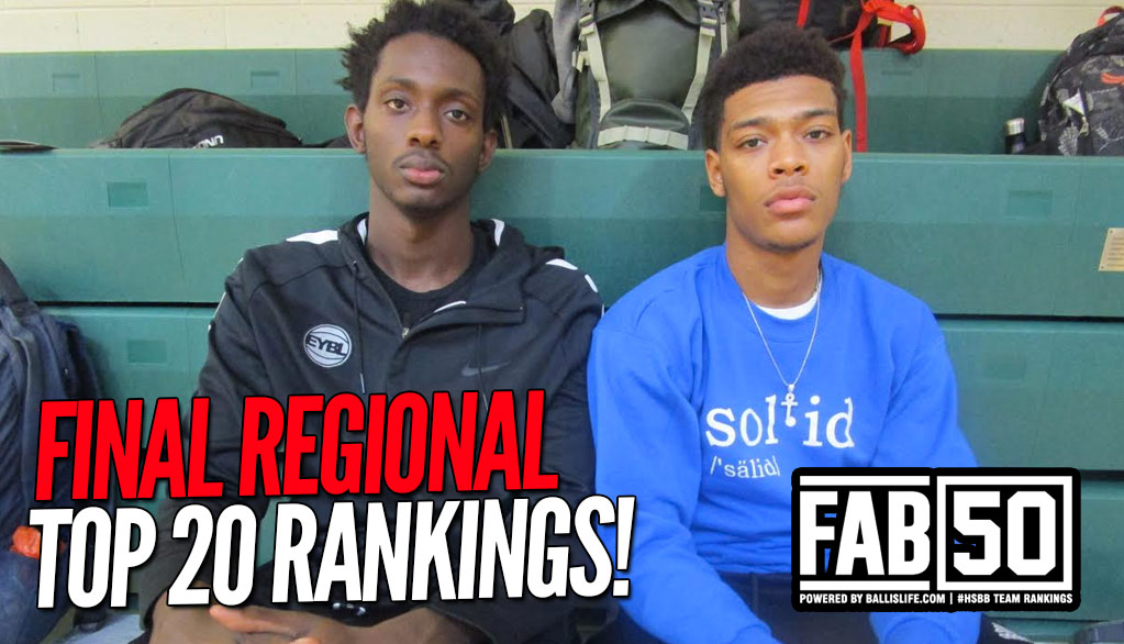 FINAL 2016-17 Top 20 Regional Rankings!