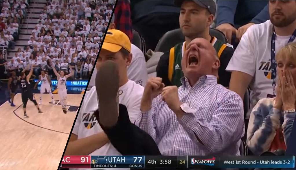 Steve Ballmer Loses His Mind After A 4th Quarter 3 By Austin Rivers