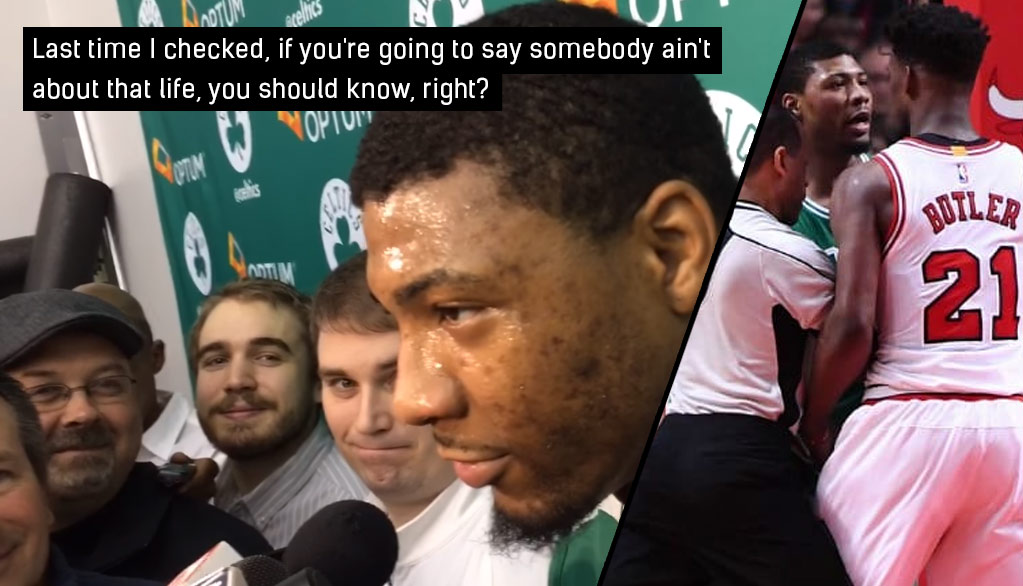 "Marcus Smart Responds To Jimmy Butler's ""Not About That Life"" Comments"