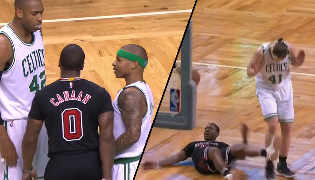 Isaiah Canaan Talks Trash To Isaiah Thomas, Later Gets Laid Out By Olynyk