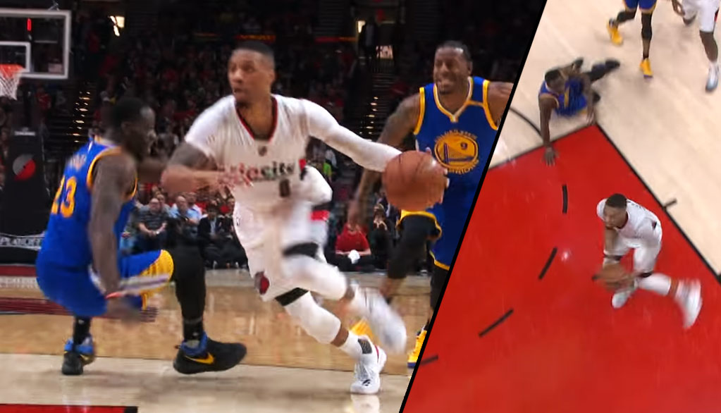 Damian Lillard Drops Draymond Green With A Crossover In GM4
