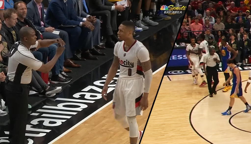What Did Damian Lillard Say To The Ref To Get A Tech?