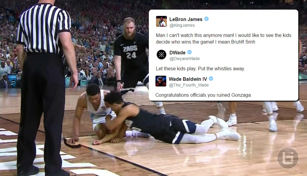 NBA Players React To Awful Refs In NCAA Championship Game