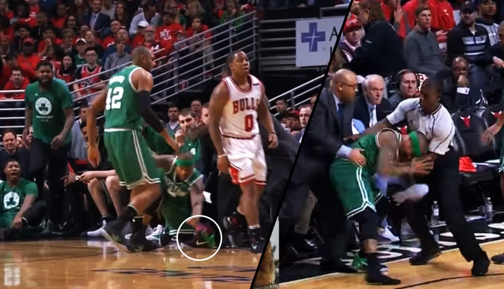 Ref Pushes Isaiah Thomas Thinking He Was Going After Isaiah Canaan Instead Of His Shoe