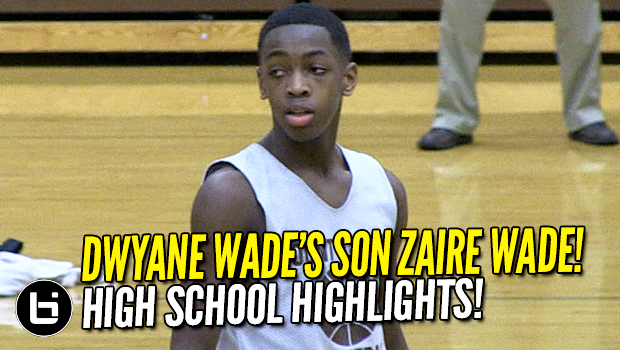 Dwyane Wade's son Zaire Wade, nephew Dahveon Morris Team Up! High School Highlights!