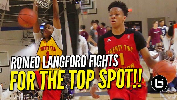 Romeo Langford Fights for #1 Guard Spot in 2018 at Adidas in ATL