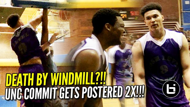 Death by Windmill?!! UNC Commit Gets Windmilled On then Postered AGAIN!