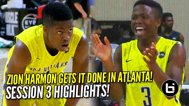 8th Grader Zion Harmon Shows He Can Hang with the Big Boys; EYBL Session 3 Highlights!
