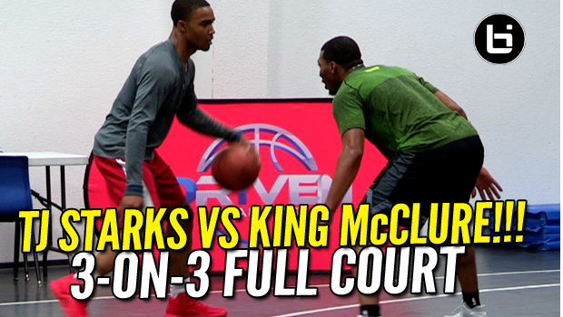 TJ STARKS Vs KING McCLURE In Private Gym! 3-On-3 Full Court
