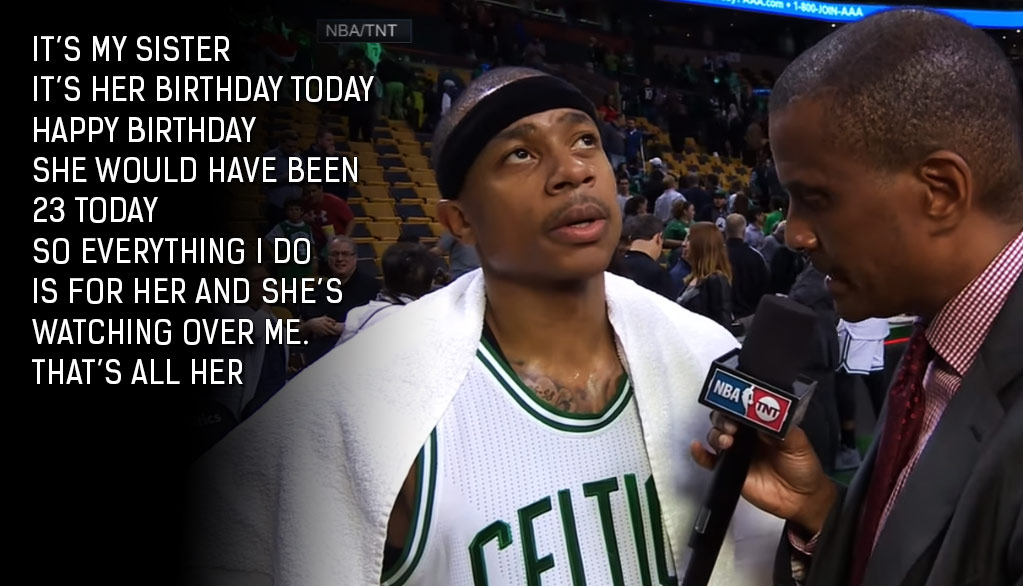 Emotional Interview With Isaiah Thomas After Scoring 53 On What Would Have Been His Sister's 23rd Birthday