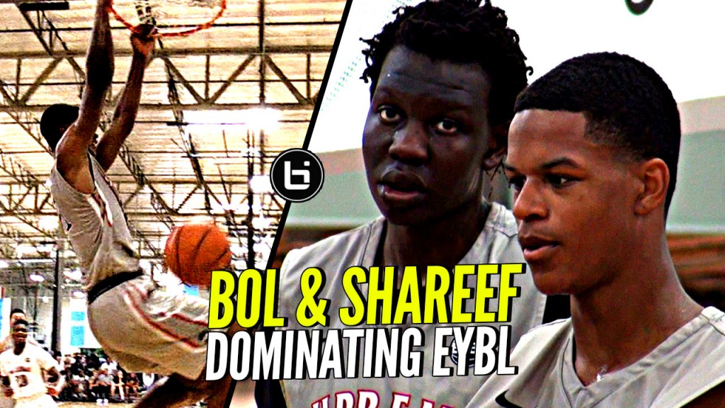 Bol Bol & Shareef O'Neal Are a PROBLEM!! Can ANYBODY STOP THEM!??  Nike EYBL LA Highlights