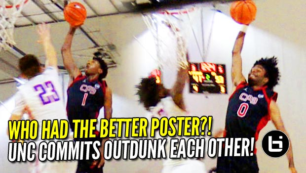 UNC Commits Try to OUTDUNK Each Other! Coby White and Leaky Black Posters!
