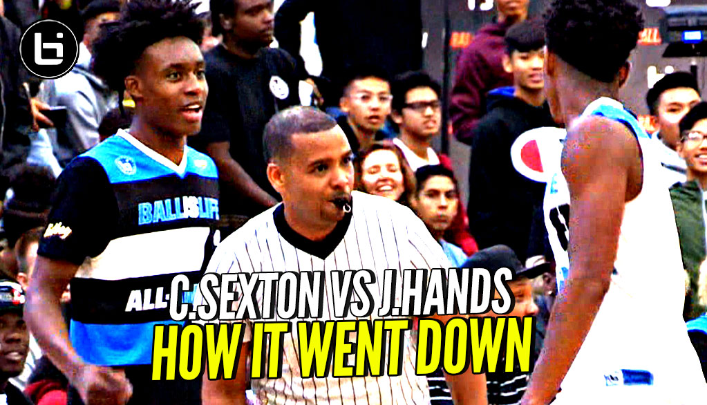 Collin Sexton vs Jaylen Hands FULL Battle! How It Really Started  & What The Crowd Did!!
