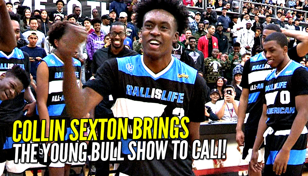 """Collin Sexton's """"The Young Bull"""" Show Arrives in California at 2017 Ballislife All American Game!"""