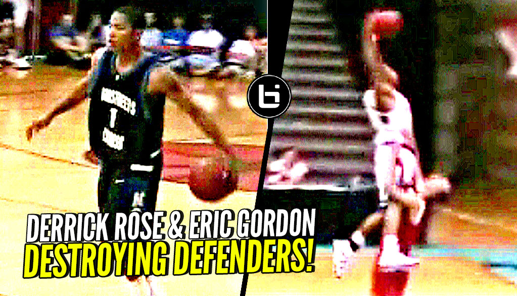 Derrick Rose & Eric Gordon DESTROYING Defenders In High School! NASTIEST HS Backcourt Duo!