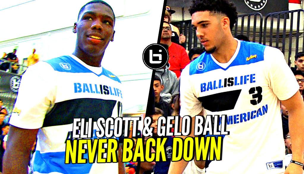 LiAngelo Ball & Eli Scott NEVER Back Down! Gelo & Eli's Last Game Together at BILAAG!