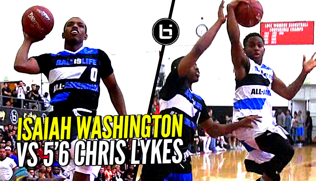 Isaiah Washington & 5'7 Chris Lykes Try To OUT JELLY Each Other! Exciting PG Match-Up at BILAAG!