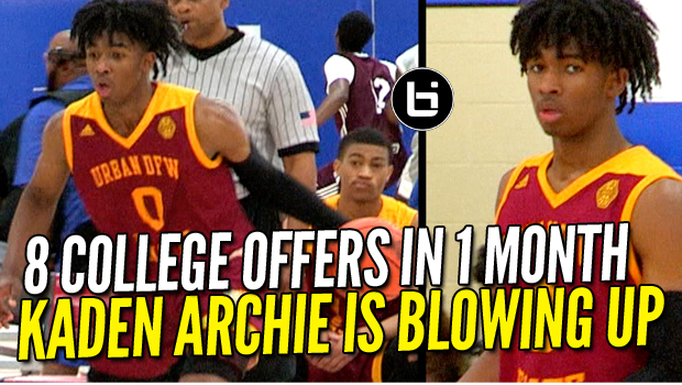 8 COLLEGE OFFERS In 1 MONTH! Kaden Archie is Officially Blowing UP!
