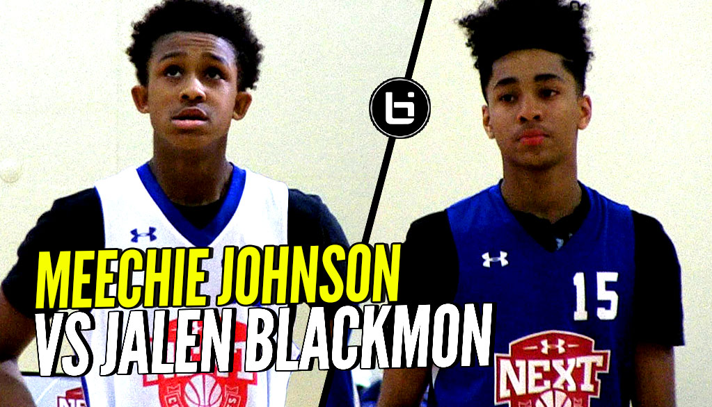 Meechie Johnson vs Jalen Blackmon! Top 8th grade PGs at UA Next Combine!