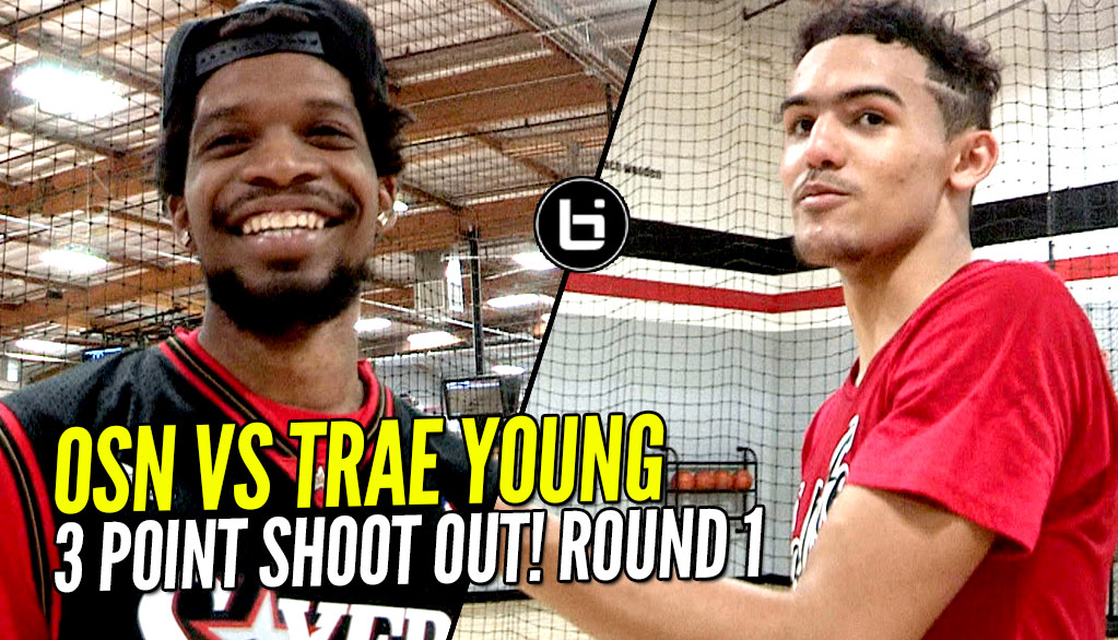 OSN vs Trae Young 3 Point Contest Round 1! WHO WINS!??!?