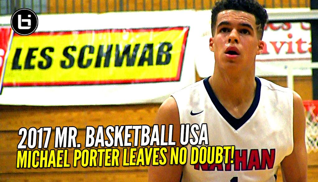 Michael Porter Jr. Named Mr. Basketball USA!