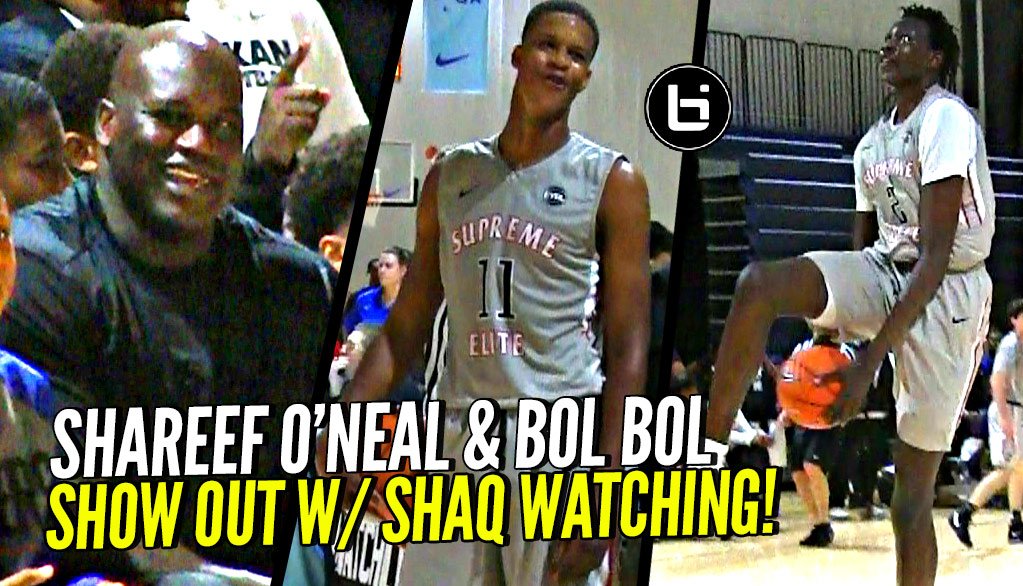 Bol Bol & Shareef O'Neal SHOW OUT In Front of SHAQ!!! Cal Supreme vs Meanstreets!
