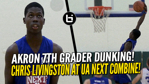 Akron 7th Grader Chris Livingston Dunks and Impresses at UA Next Combine!