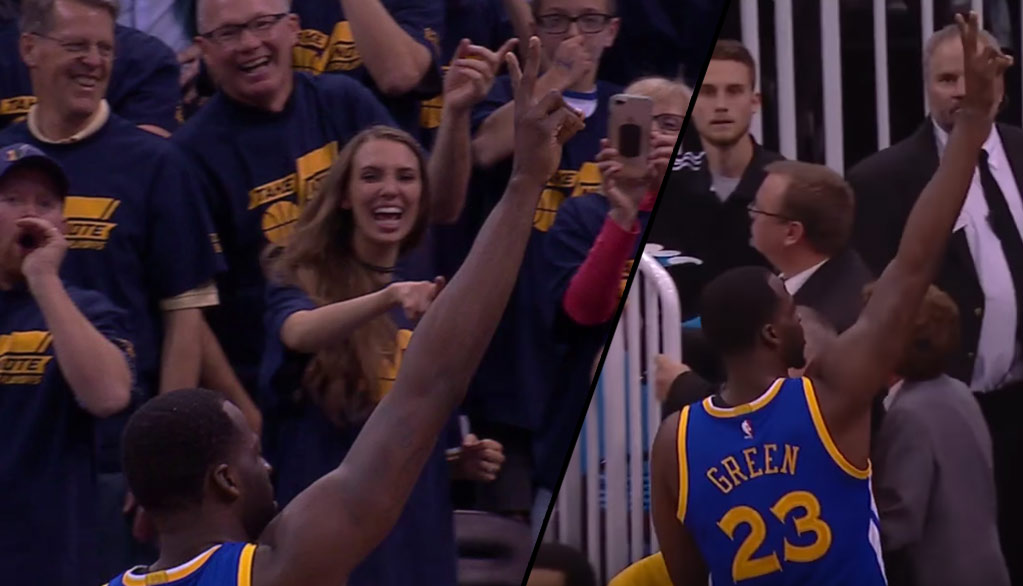Draymond Green Taunts Fans After Picking Up A Tech In GM3