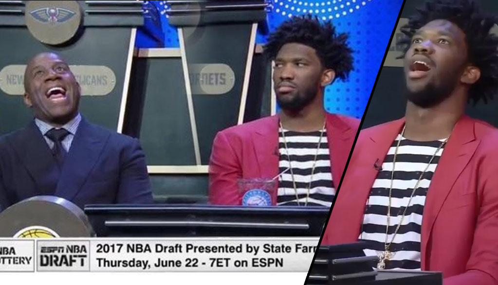 Joel Embiid's Funniest Moments At The 2017 NBA Draft Lottery