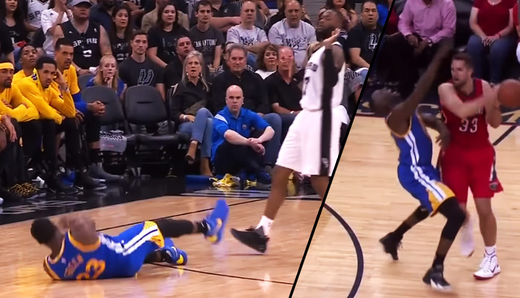 Coach Popovich Laughs At Draymond Green's 2nd Best Flop Ever