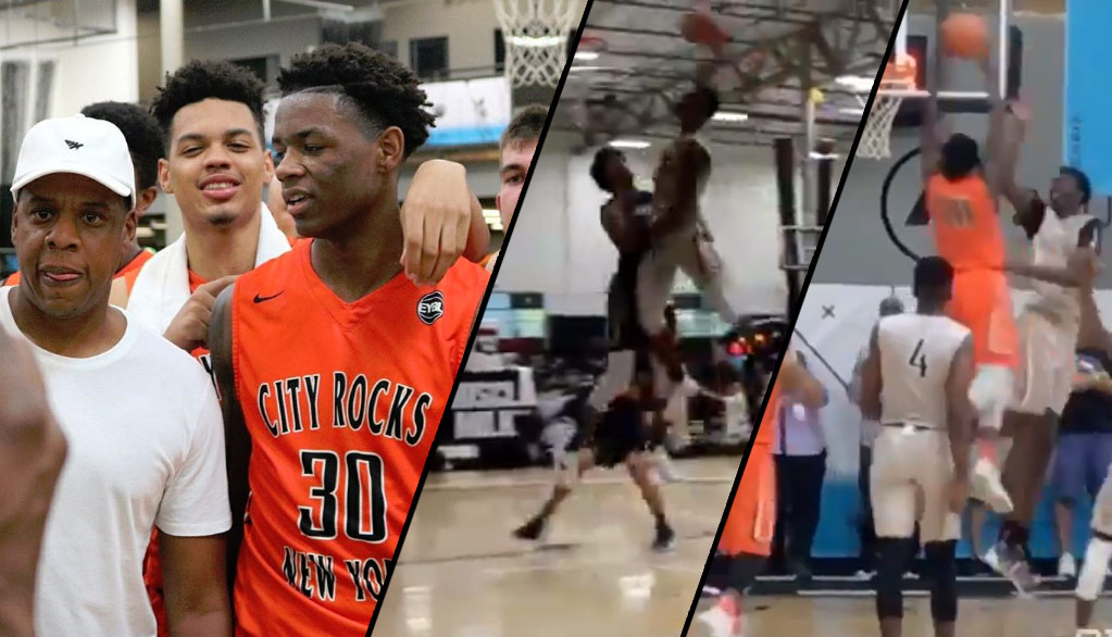 Jay-Z's Nephew, Nahziah Carter, Dunks Over The #1 Player In 2018 & 7'0 Bol Bol